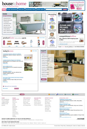 House To Home website